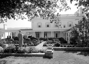 Part of the grounds at Allandale Mansion, 1961. Photo by David Peirce.