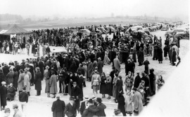 Crowd at the dedicaton, 1937.
