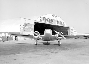 The Southeastern Aviation, Inc. hangar and airplane, 1961.